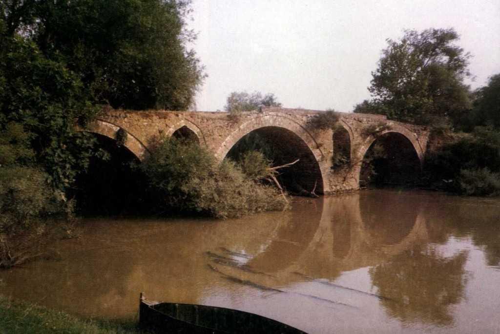 Εικόνα 9 Το γεφύρι στο Κεραμίδι προ εικοσαετίας, Πηγή: Τα πέτρινα Γεφύρια της Θεσσαλίας (Γαλεριδης κ.ά. Λάρισα 1995)