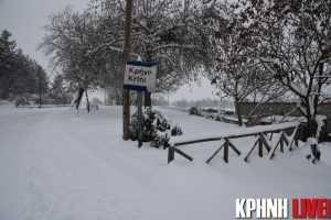 Η Κρήνη χιονισμένη